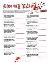 Horror Trivia Game