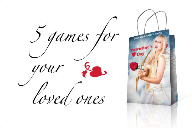 5 games Valentine's Day partybag for your loved ones