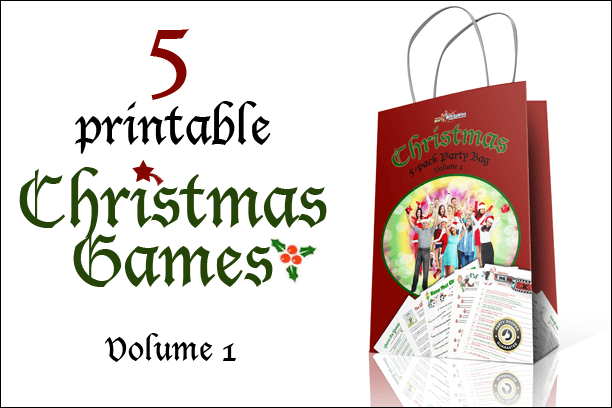 Christmas Printable Game Pack Volume 1