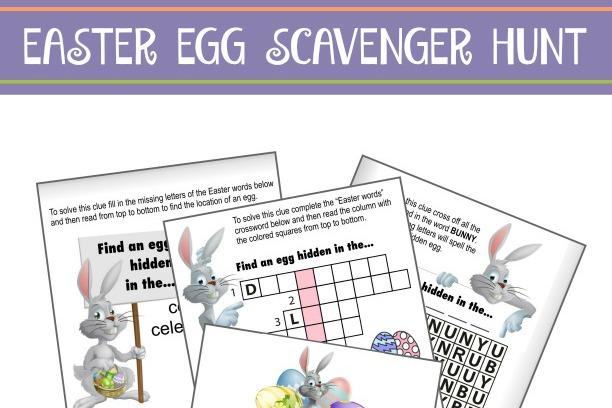 Easter Egg Scavenger Hunt Clues