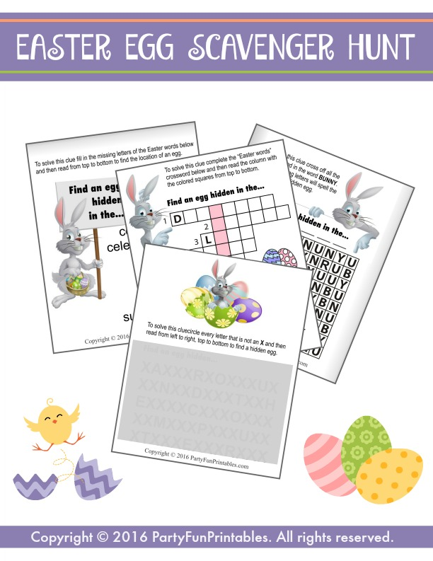 photo regarding Printable Easter Egg Hunt Clues named Easter Egg Scavenger Hunt with Printable Clues