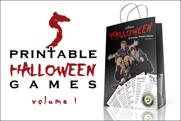 Halloween Printable Game Pack Volume 1