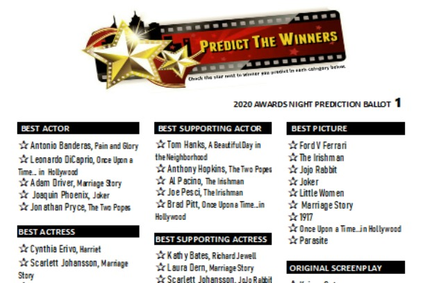 Predict the Oscars Game 2020