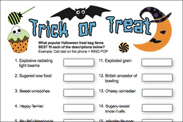 Trick or Treat Candy Game