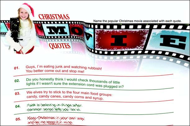 Christmas Movie Quotes Trivia Game