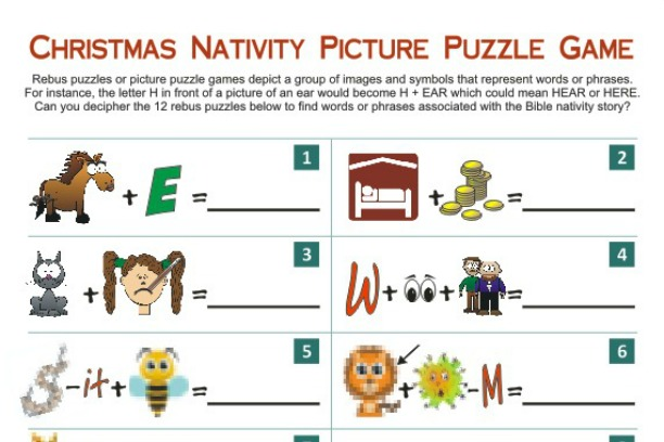 Christmas Nativity Picture Puzzle Game