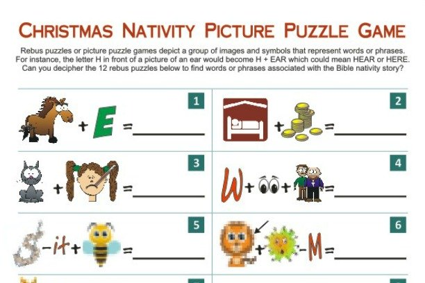 Nativity Picture Puzzle Game