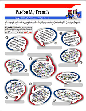 Pardon my French - Guess French words used in English