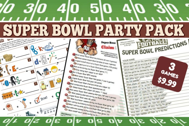 Printable Super Bowl Party Game Pack